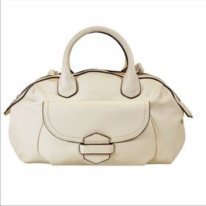 Handbags - Off white faux leather satchel